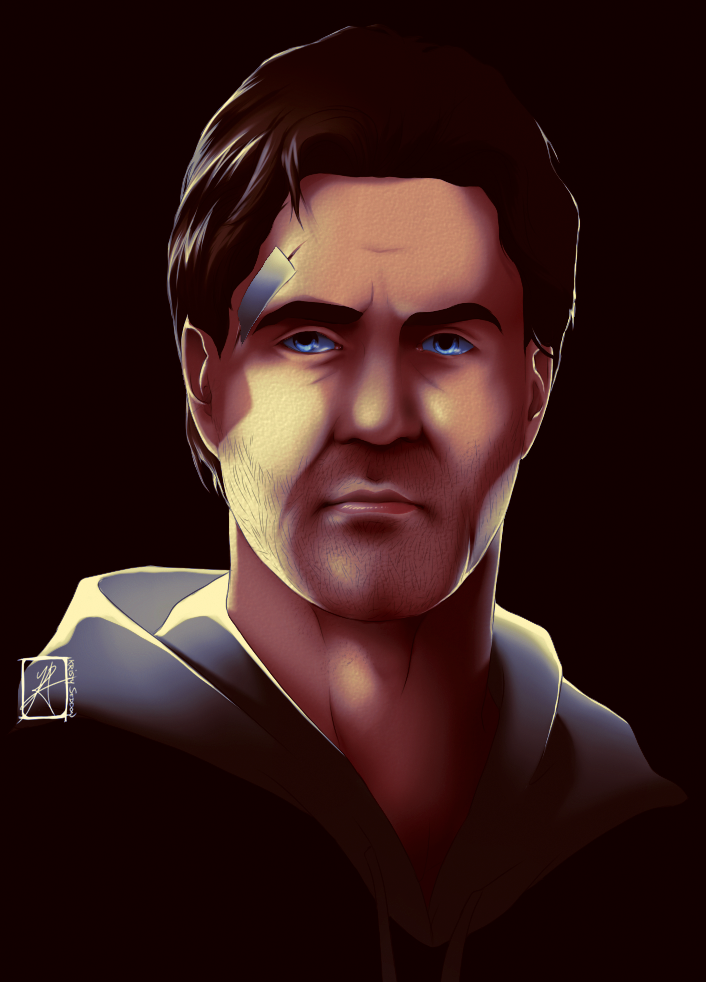Practice Painting - Alan Wake by InvisibleRainArt