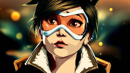 TRACER BONUS SPEED DRAWING by InvisibleRainArt