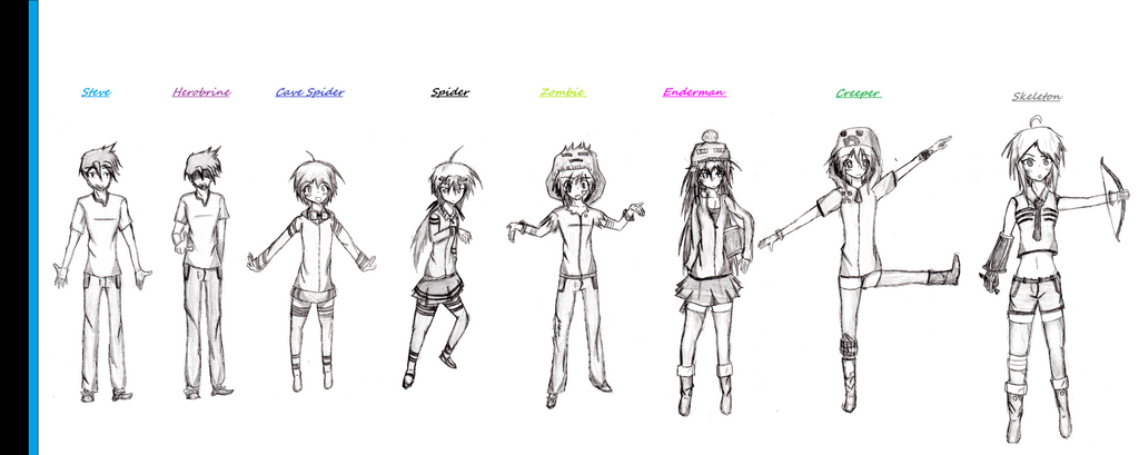 my own minecraft mob talker characters by shadowvenom718 on deviantart
