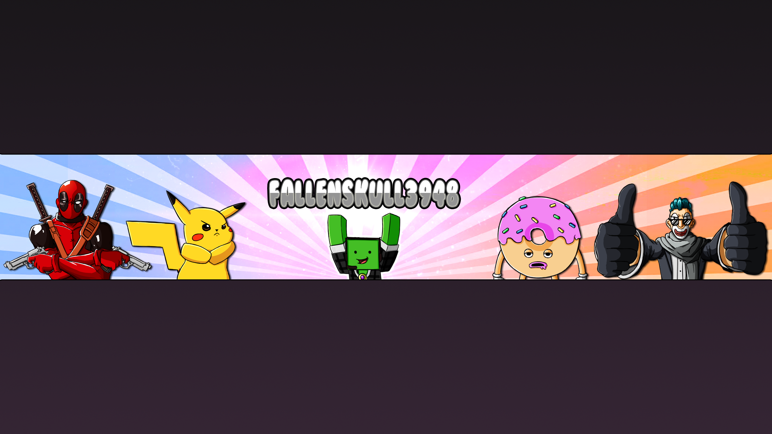 Fallenskull3948 Youtube Banner By Shadowvenom718 On Deviantart