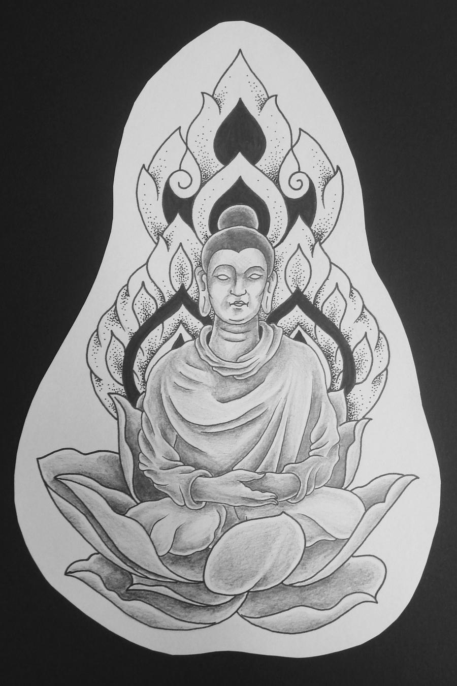 Thai Buddha Tattoo Drawing