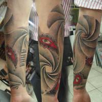Half sleeve dotwork by JonToogood