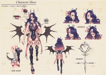 Character-sheet-loveless : owner : StarScribbles by DalanPST