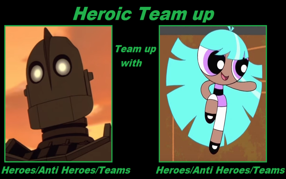 Heroic Team Up of the Iron Giant and Bliss Meme by ...