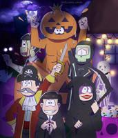 Osomatsu-San Halloween Fanart by Cami-Sama-Sama