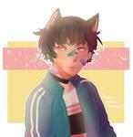 [Color sketch]  Cute boy