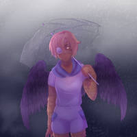 .:CM:. It's a rainy day for a fallen angel. by Cami-Sama-Sama