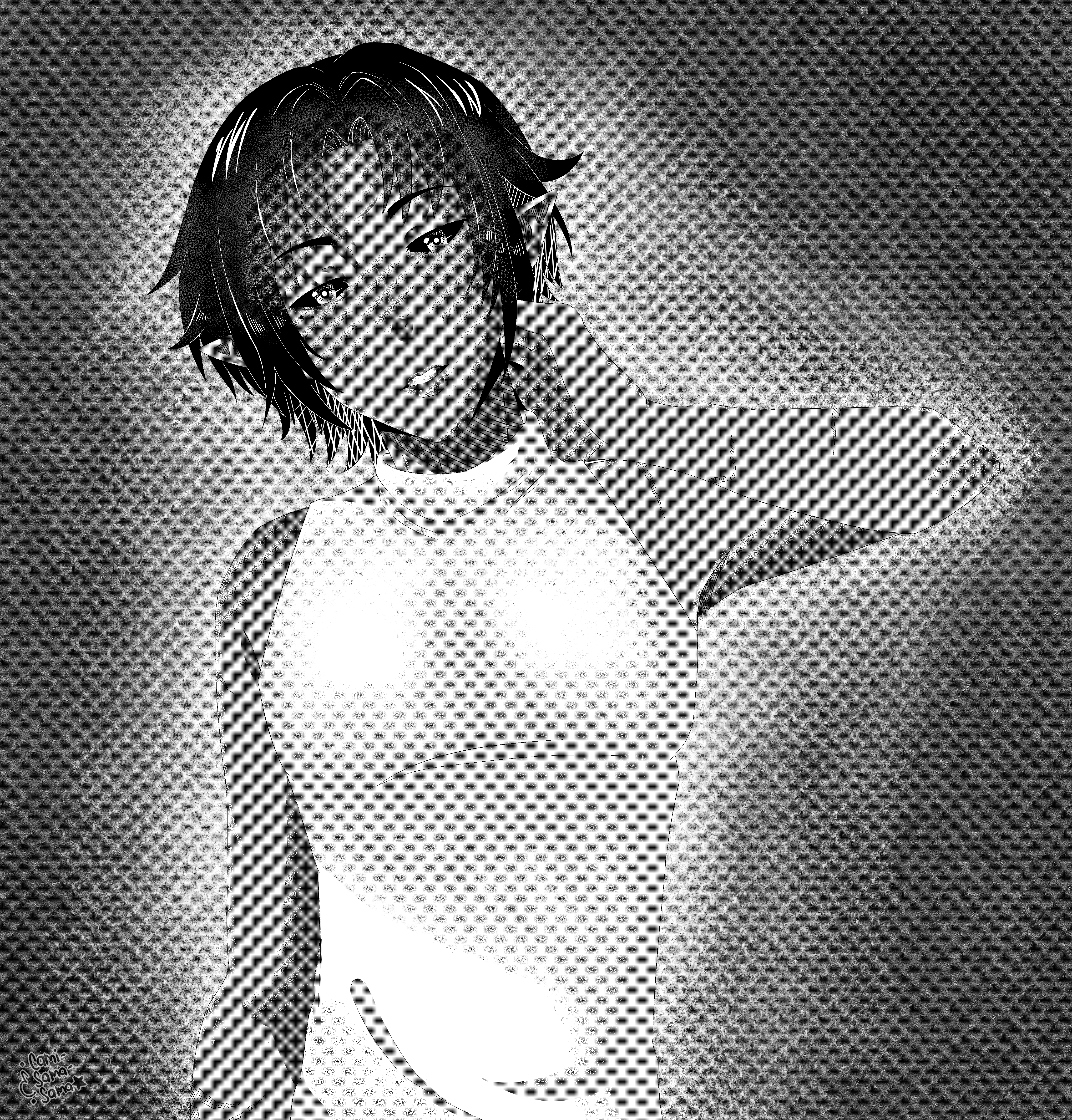 .: Art trade :. Rajh manga drawing. by Cami-Sama-Sama