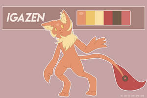 .:Commission:. Igazen Reference Sheet. by Cami-Sama-Sama