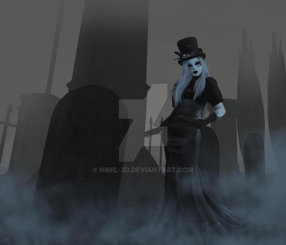 She Walks In Darkness by nimil-3d