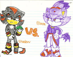 Shadow vs. Blaze by Shapoodle4u