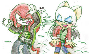 Christmas 2010: Knux x Rouge by Shapoodle4u
