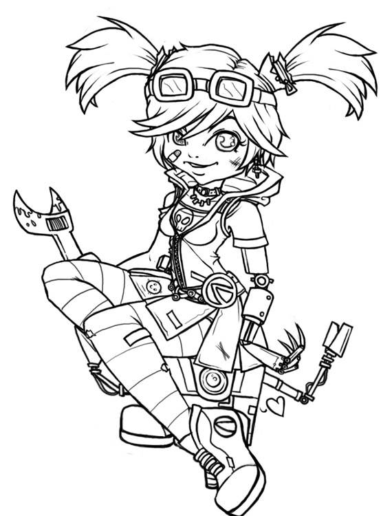 Borderlands coloring pages ~ Borderlands 2 Tiny Tina Coloring Pages - New Naked Girls