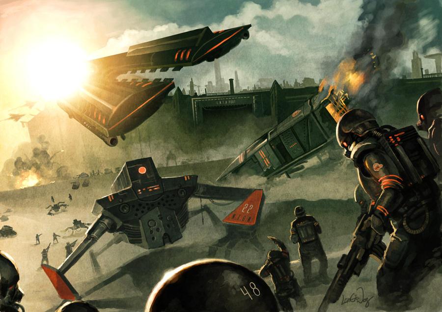 THE WAR.. by Langewong