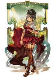 Steampunk girl by Langewong