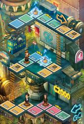 Steampunk world in hong kong by Langewong