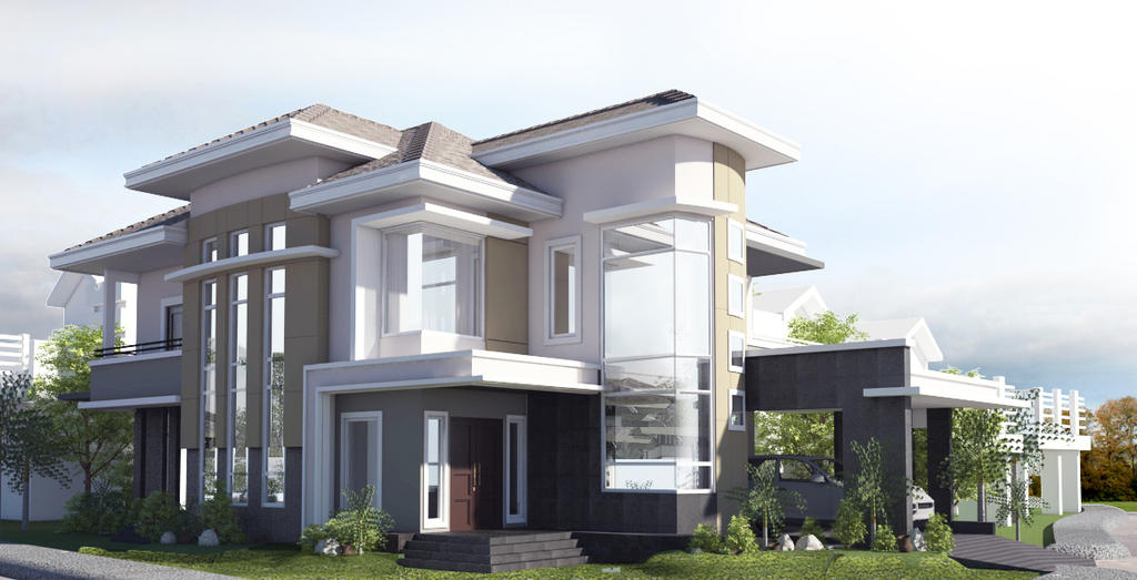 Residential house proposal atrium balanga city by for Residential atrium