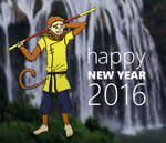 Sun Wukong wishes a happy new year