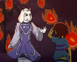 Toriel looks through you