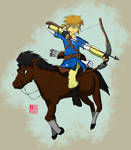 Link and Epona hunting