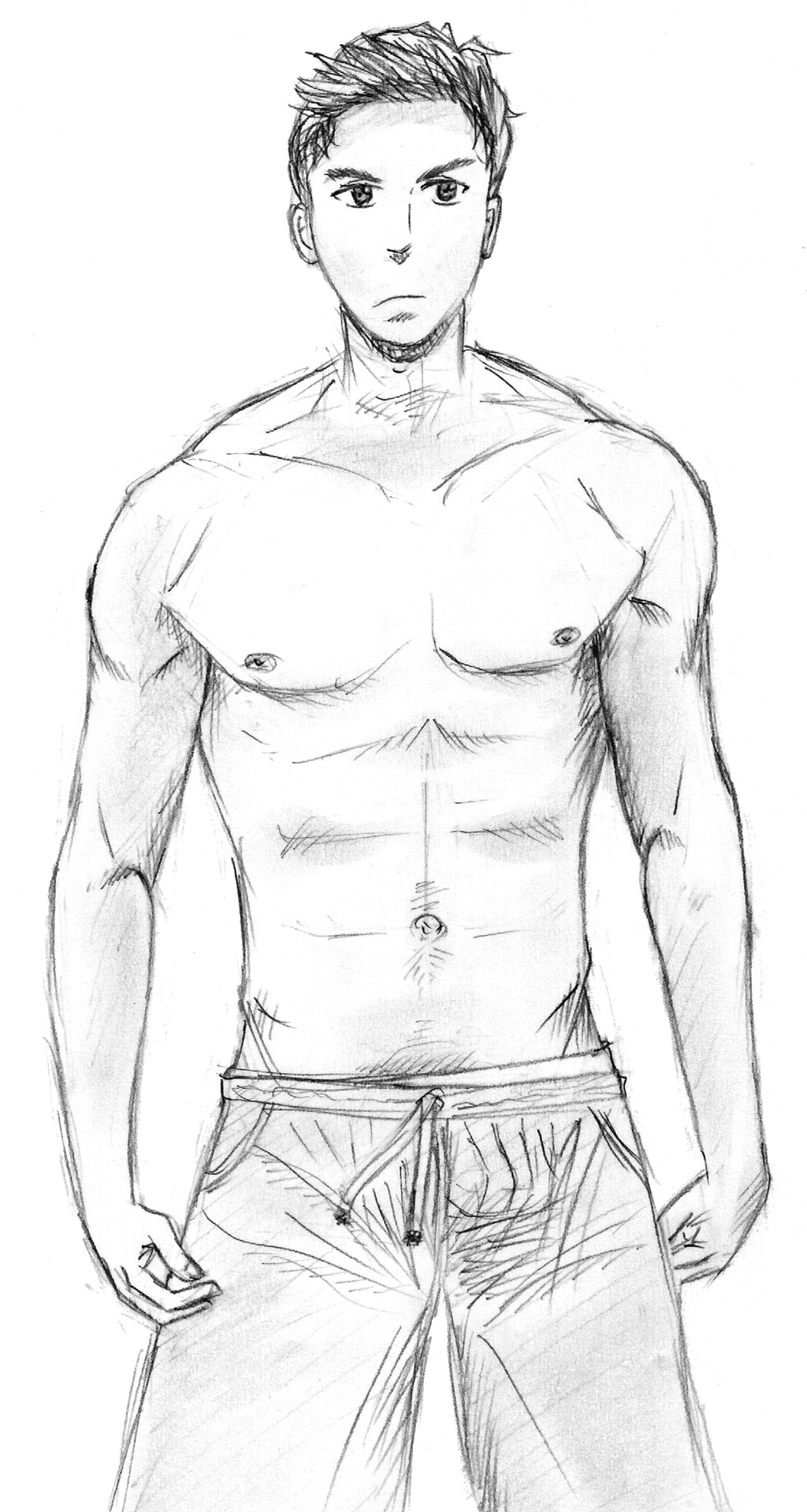 Male anatomy study by yishn
