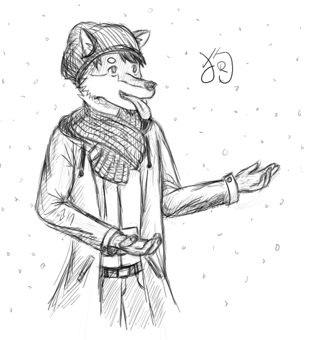 Trying to lick snow by yishn