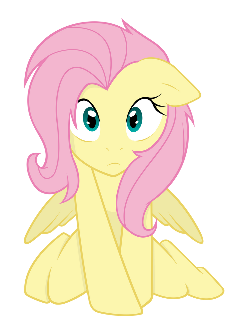 Cute Fluttershy Vector by Vectorpone