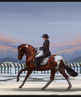IMPERIAL WINTER DRESSAGE ll Soft Creature by Shevy-Art