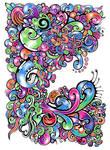 Intertwined swirls