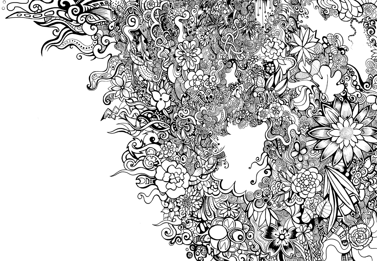 Black And White Floral Pattern By Zyari On Deviantart