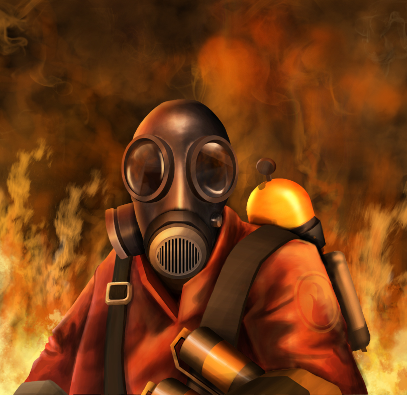 Team Fortress 2 Pyro by Zyari