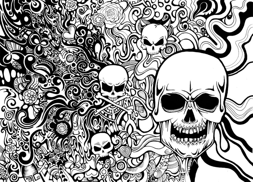 Skulls Pattern by Zyari
