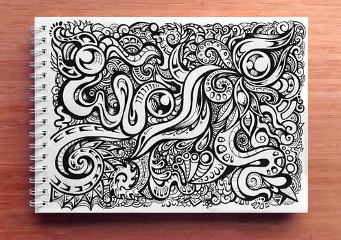 Swirly Black 'n' White Pattern