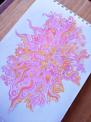 Fluro Flower Pattern