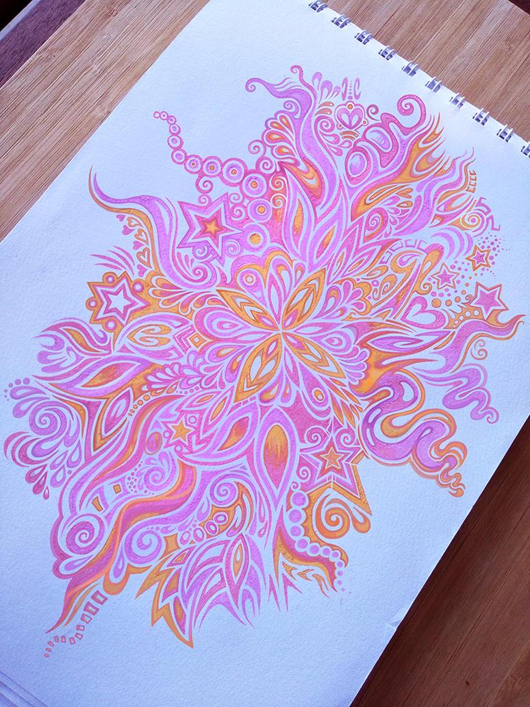 Fluro Flower Pattern by Zyari
