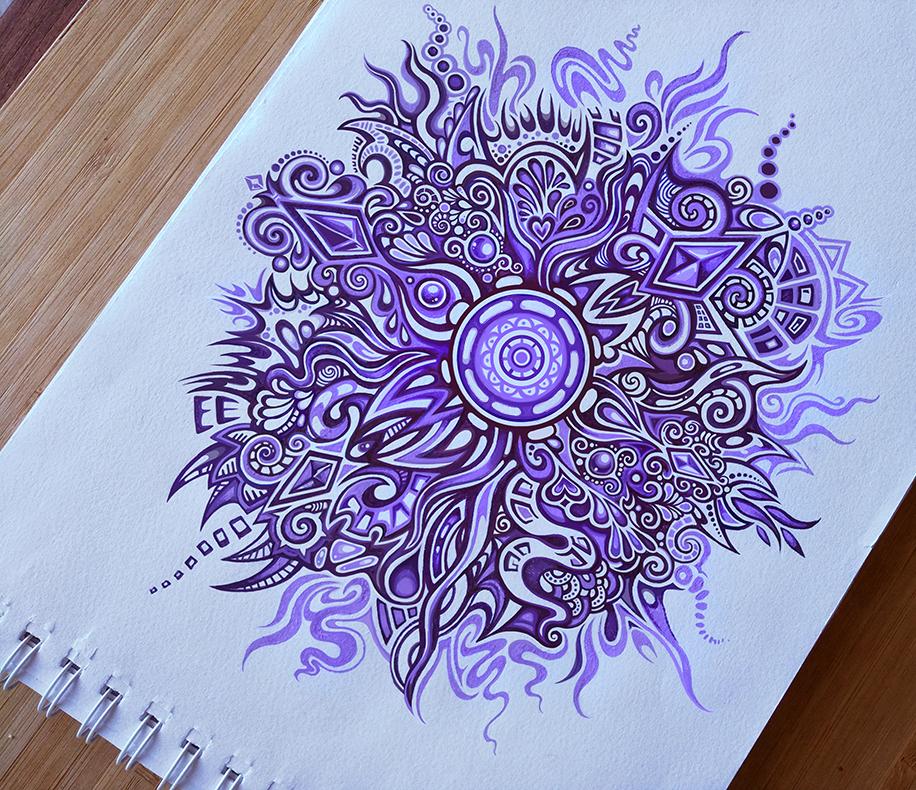 Purple Swirl Pattern by Zyari