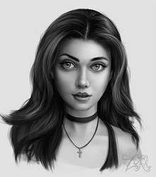 Stylized Portrait Study by Zyari