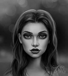 Face Study by Zyari