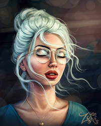 Colour Face Study by Zyari