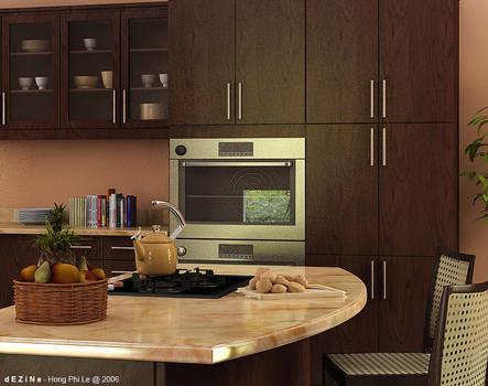 Kitchen island - Noon shot