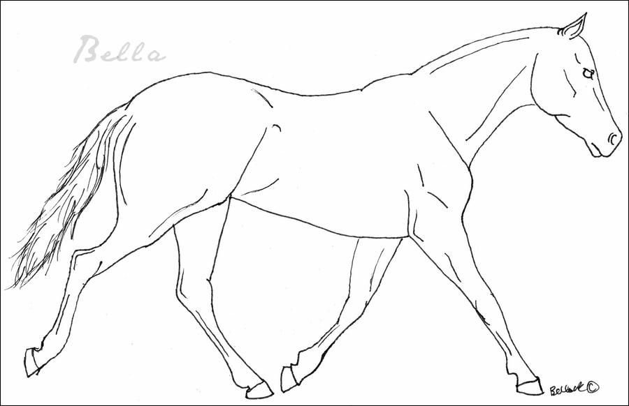 Trotting Horse FREE Lineart by Bellayona on DeviantArt