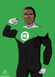 Green Lantern John Diggle (Arrowverse) by kamenrider004