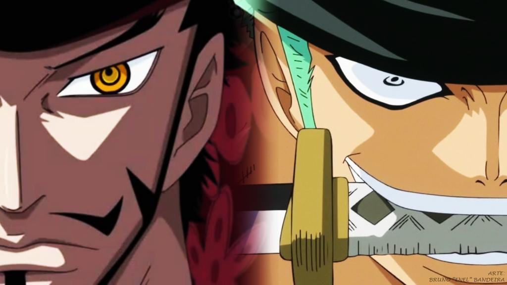 One Piece Wallpaper 1280x720 - Mihawk vs Zoro by TripulacaoOnePiece