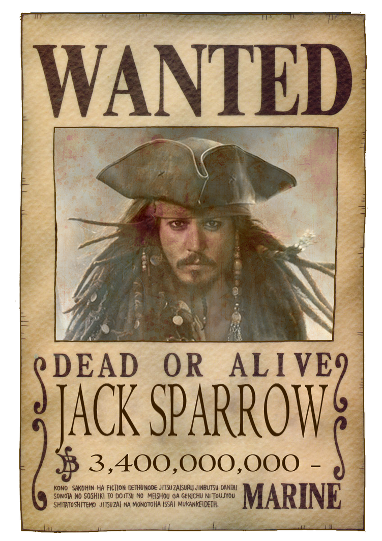 Jack Sparrow - Wanted Poster (One Piece) by TripulacaoOnePiece on DeviantArt