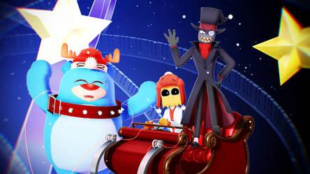 [Christmas Costume] MMD Villainous [Model DL] by yoshi-fuzi