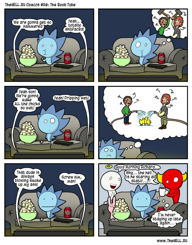 TheHell.RU Comics #56: The Boob Tube by stoofovski