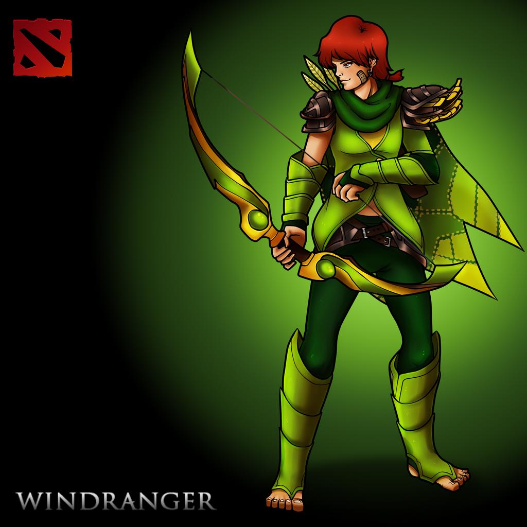 windranger from dota 2 by amkamaradimelch on deviantart