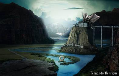 Dragon's Castle by shinoaburame23
