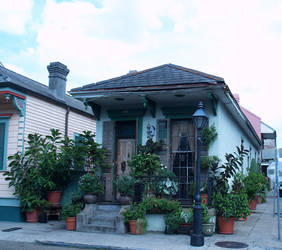 French Quarter Shotgun house by longrider1952
