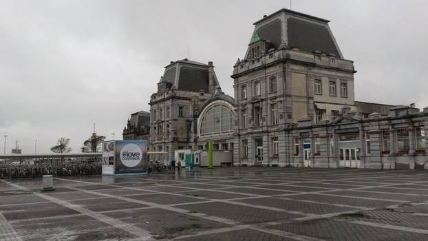Train Station in Ostende, Belgium